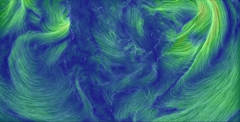 Earth Wind Map turns raw weather data into neon art | Divers infos | Scoop.it