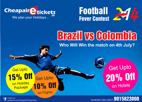 Brazil vs colombia - FIFA WORLD CUP 2014 | travel agent in noida | Scoop.it