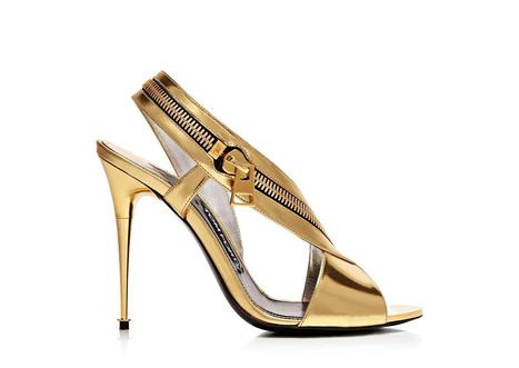 Metallic Leather Zip Sandal - Tom Ford | sexy girl | Scoop.it