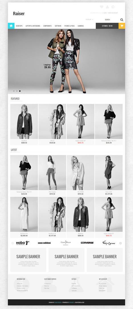 Raiser, Premium OpenCart Apparel Clothing Shop Theme   Premium Download   Creativity by   Scoop.it