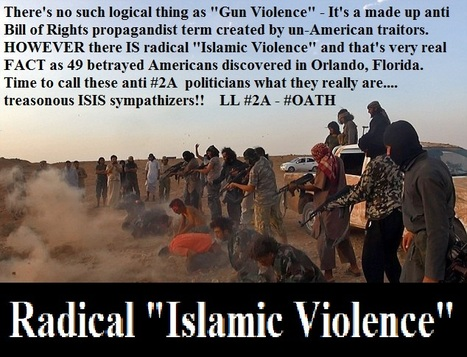 "There's no such logical thing as ""Gun Violence""  HOWEVER there IS radical ""Islamic Violence""  LL #2A - #OATH  