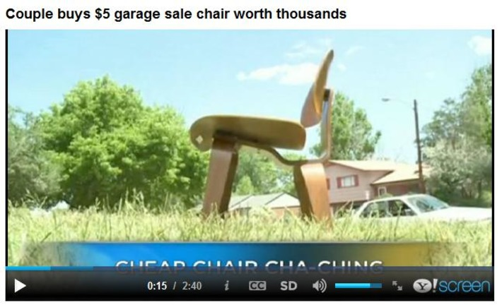 Couple buys $5 garage sale chair worth thousands | Antiques & Vintage Collectibles | Scoop.it