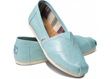 Cheap Turquoise Metallic Linen Toms Shoes Outlet for Women | Toms Outlet Cheap Shoes | Scoop.it