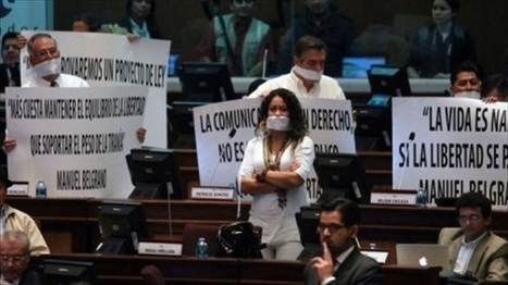 Ecuador imposes 'gag order' on radio and TV stations | The Raw Story | Media annalyse Info Radio Télé | Scoop.it