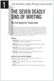 Seven Sins of Writing - Home - Hamilton College | Technology for the classroom | Scoop.it