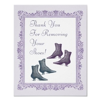 Please Take off Your Shoes Sign Print from Zazzle.com | Vintage Fashionista | Scoop.it