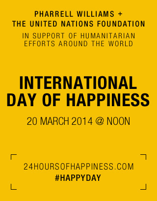 Pharrell Williams and the UN Foundation Partner to Celebrate International Day of Happiness, Support Humanitarian Work Around the World | Habile vous conseille | Scoop.it