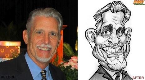 Our latest caricature 1 Person Black & White Caricature | Custom Caricatures | Scoop.it