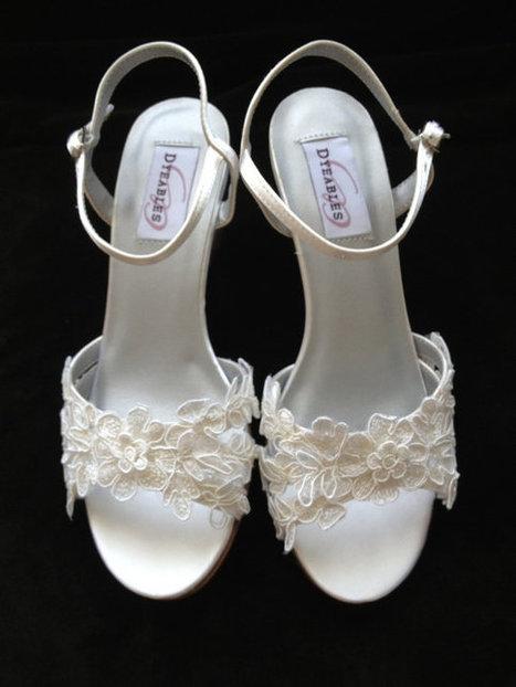 Custom Lace Wedge Wedding Shoes - Caitlyn | Fashion | Scoop.it