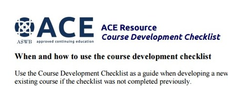 ACE Resource Course Development Checklist | Professional Learning Design | Scoop.it