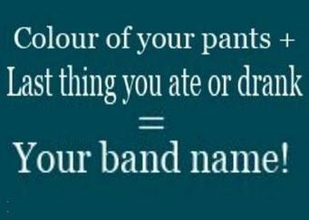 Thursday: Colour of your pants + last thing you are or frank = Your Band Name   Egyptday1   Scoop.it