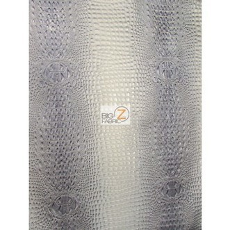 Florida Gator 3D Embossed Vinyl Fabric / Mercury Silver / Sold By The Yard | Fabric Shopping Online | Scoop.it