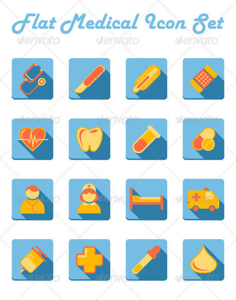 Flat Medical Icon Set (Icons) | GFX Database | GFX Download | Scoop.it