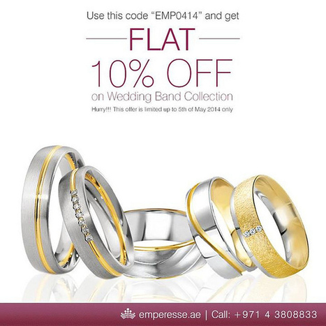 10% off on Wedding Band   Wedding Band Collection Dubai   Scoop.it