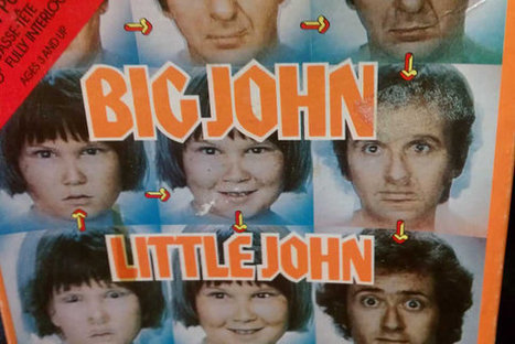 Rare Vintage Big John Little John Puzzle 1970s Live Action Saturday Morning Kids Sherwood Schwartz TV Show NBC | Kitsch | Scoop.it
