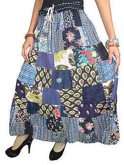 Crinkle Long Skirt Bohemian Boho Floral Patchwork dancing Skirt Boho Gypsy Skirt | Bohemian Fashion | Scoop.it