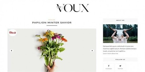 Download Voux Blogger Template Personal Blogger Template - Designsave.com | Blogger themes | Scoop.it