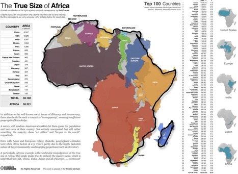 True size of Africa | D&J Europe and Australia and Africa | Scoop.it