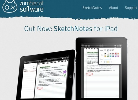 SketchNotes for iPad - ZombieCat Software | mlearn | Scoop.it