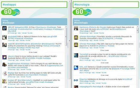 Eyeooo, realiza el seguimiento simultáneo de dos hashtags de Twitter | Herramientas TIC para el aula | Scoop.it