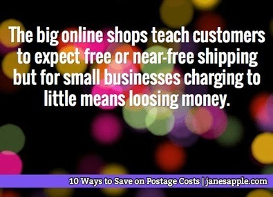 10 Ways to Save on Postage Costs | Jane's Apple | Sell Handmade Online | Scoop.it