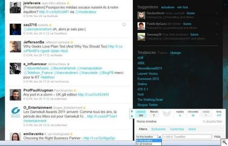 Tweetfilter : filtrer et customiser le client officiel de Twitter. | Social Media, etc. | Scoop.it