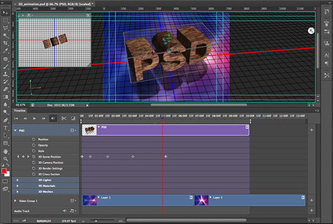 Creating 3D Animation in Photoshop CS6 - Graphic Design | Aware Entertainment | Scoop.it