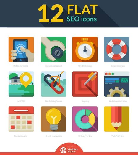 Free download: 12 Flat SEO icons | Daily Magazine | Scoop.it