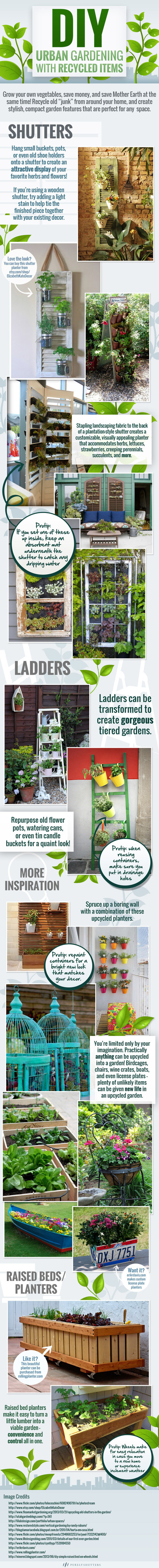 DIY – Urban Gardening with Recycled Items | Residential Spaces | Scoop.it