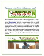 Wooden Boxes | Wooden Boxes | Scoop.it