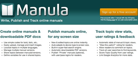 Create and publish online manuals and help files » Manula | Better teaching, more learning | Scoop.it