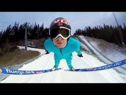 Ski jumping is a sport most people will never have a chance to take part in. Anders Jacobsen attached a GoPro camera to his skis while 'flying' in Lillehammer, Norway. | Random Sites I Like | Scoop.it