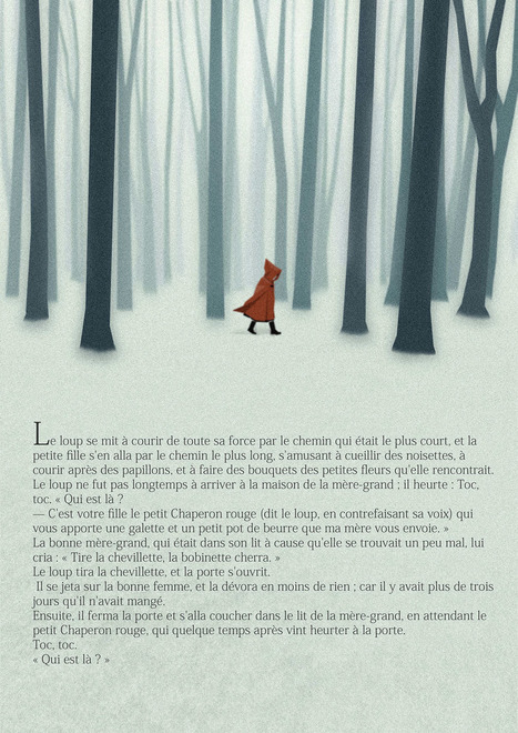 Graphic Design Inspiration – Little Red Riding Hood in Snow | Photography, Graphic Design & Artful Inspiration | Scoop.it