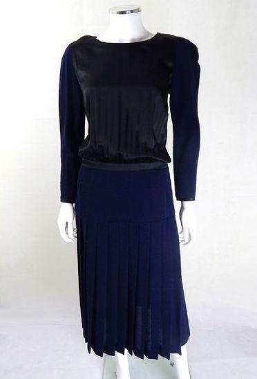 Vintage 1980s CHANEL Wool and Silk Dress | Vintage Chanel Dress | Vintage Chanel Dresses | Vintage Clothing | Scoop.it