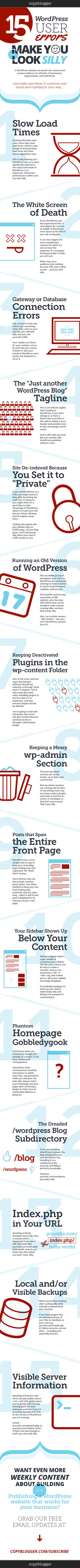 15 WordPress User Errors That Make You Look Silly [Infographic] | Tech Tips | Scoop.it