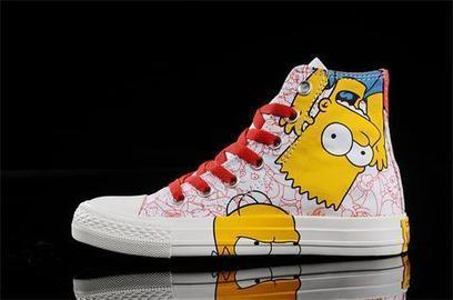 Blog - The Simpsons Converse High Tops Custom Sneakers   Comic Nike Dunks   Scoop.it