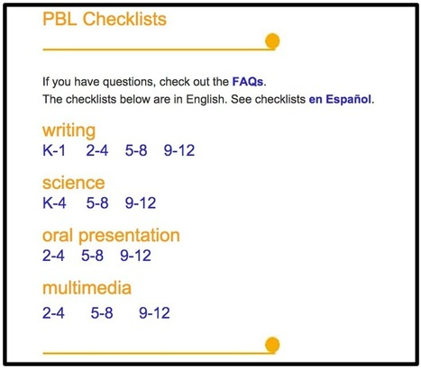 Must Have Project-Based Learning Checklists for Your Class | Technology in Art And Education | Scoop.it