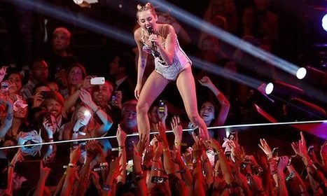 Miley Cyrus criticised for raunchy MTV Video Music Awards performance - The Guardian | PR News | Scoop.it