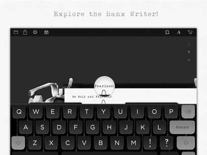 Turn your iPad into an old-school manual typewriter with Tom Hanks' Hanx Writer | Learning and teaching | Scoop.it