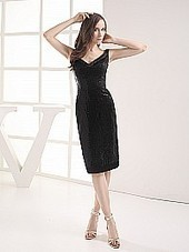 Lace and Elastic Satin Sheath Party Dress with Sequins | beauty | Scoop.it