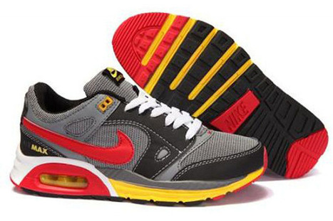 Mens Nike Air Max Lunar BlackGrey-Red-Yellow Running Shoe | my love list | Scoop.it