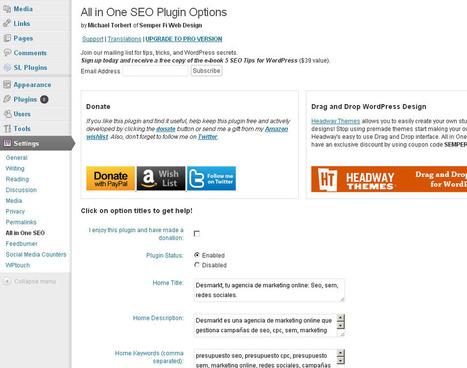 5 plugins imprescindibles para SEO en Wordpress | Easy Marketing | Scoop.it