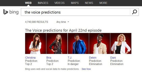 Bing Starts Using Search Data To Predict TV Talent Show Votes | TechCrunch | screen seriality | Scoop.it