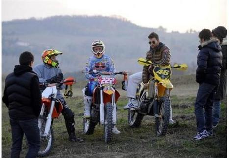 Rossi with his friends racing at a dirt track | MotoGP World | Scoop.it