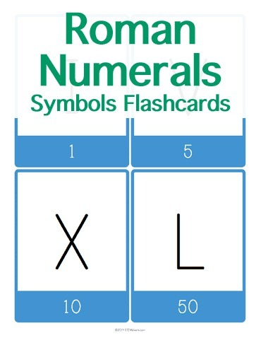 Roman Numerals Symbols Flashcards | Math Worksheets and Flash Cards | Scoop.it