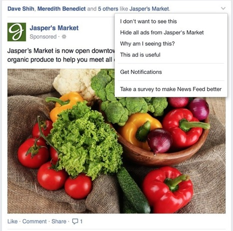 Facebook wants to know why you hide ads | MarketingHits | Scoop.it