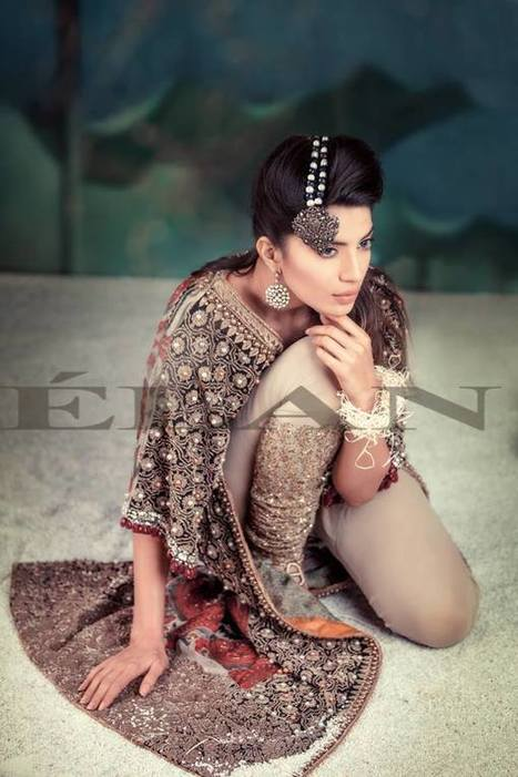 Girls Bridal Wear Embroidered Dresses by Elan   fashion   Scoop.it