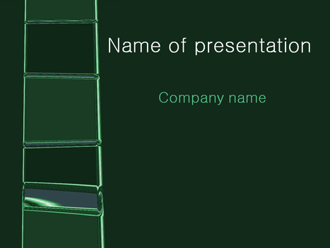 Download free Green Ladder powerpoint template for presentation | Powerpoint Templates and Themes | Scoop.it