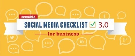 Foolproof Social Media Checklist for Businesses [INFOGRAPHIC] | Business Industry | Scoop.it