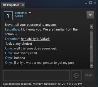 Blaze's Security Blog: Malware spreading via Steam chat | Hacking Wisdom | Scoop.it